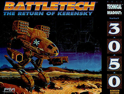BATTLETECH-THE RETURN OF KERENSKY-FOR USE WITH BATTLETECH-FASA Corp. US-rare-new