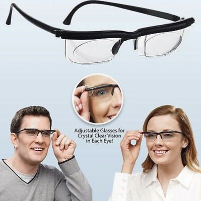 Adjustable Eye Glasses Dial Vision Variable Focus Glass For Distance Or Reading