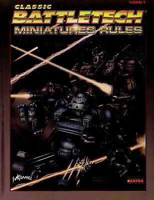 CLASSIC BATTLETECH-MINIATURES RULES-(SC)-engl.-FANPRO-WK-new-very rare #10981