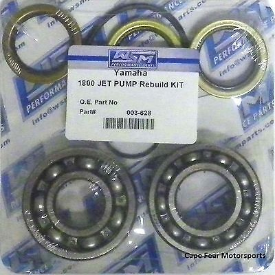 Yamaha 1800 Jet Pump Rebuild Repair Kit Bearing Seal WSM 003-628