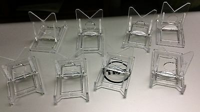 Lot of 10 Lucite Pocket Watch Display Stands