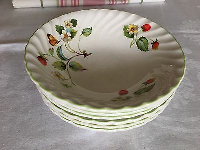 James Kent Old Foley Strawberry Staffordshire Made In England 6 Bowls