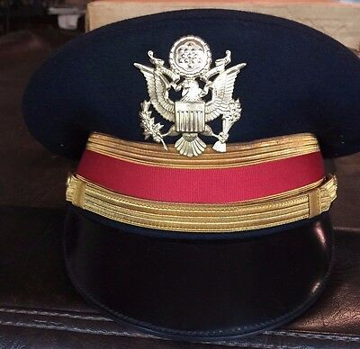 US Army Dress Blue Officer Hat and Trousers circa 1958