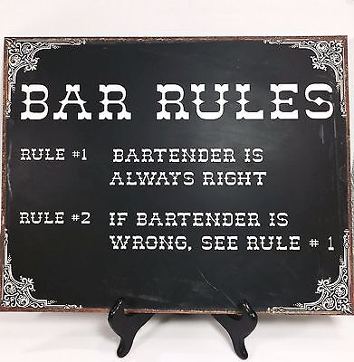 Metal Sign Vintage Style Bartender Pub Tavern Bar Man Cave Funny Wall Decor