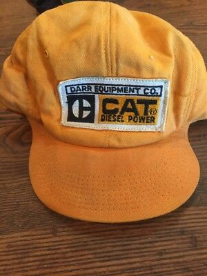 VINTAGE CATERPILLAR CAT DIESEL POWER SNAPBACK HAT CAP - Darr Equipment Co.