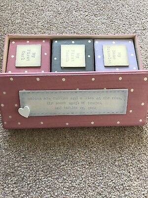 Baby Girl East Of India Gift Box Set First Tooth Curl Bracelet Brand New