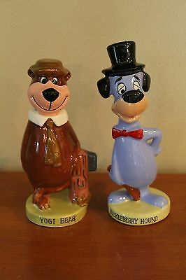 Hanna Barbera Yogi And Huckleberrry Hound Figurines Vintage 1960's