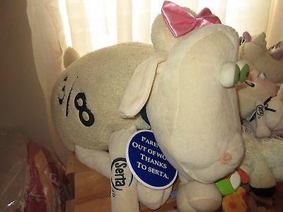 Serta Sheep #3/8 - Meduim Size(22 Inches from head to tail) - Store Display size