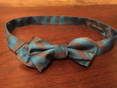 Boys Crewcuts Bowtie Blue/Gray Size L/XL