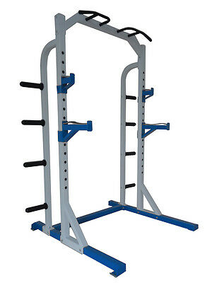 Total Body Base Half Power Rack Olympic Squat Stand Machine Pull Ups Home Gym