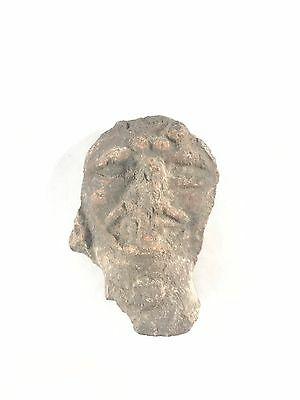 Museum Verified Pre Columbian Stone Artifact Deity Figure Head Statue