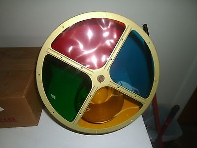 Vintage Mid Century 1950's Revolving Color Wheel Christmas For Aluminum Tree
