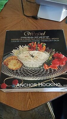 Anchor hocking wexford dip and relish tray