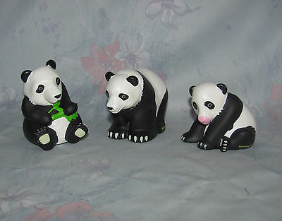 Fisher Price Little People Panda Bear Set 3 - Some Scratching, Paint Wear
