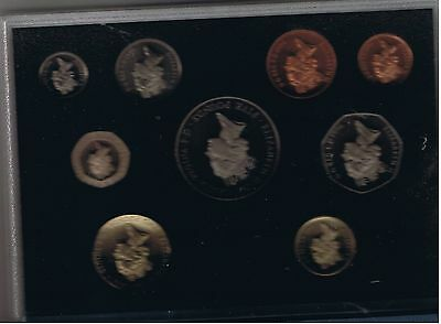 1996 United Kingdom Deluxe Proof Set, GEM Coins, 9 Coins Total, w/ Box, W/ COA