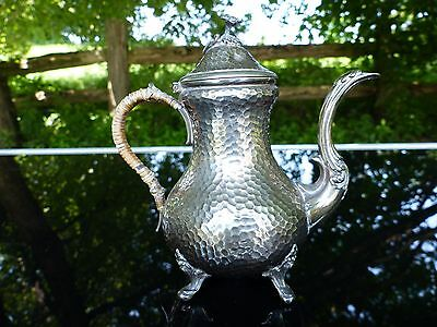 early 19th century antique french silver dimple teapot pierre queille 1834-1846