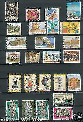 Greece selection of 25 stamps used  Good mix of Vintage and modern NICE LOT A15