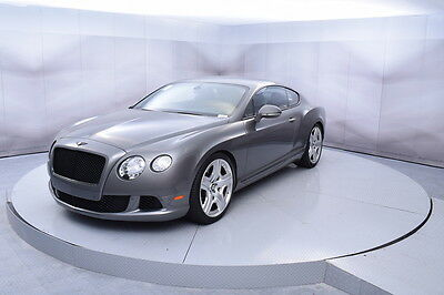 2012 Bentley Continental GT Coupe in Granite with 27,405 miles 2012 BENTLEY CONTINENTAL GT COUPE IN GRANITE WITH BOURBON