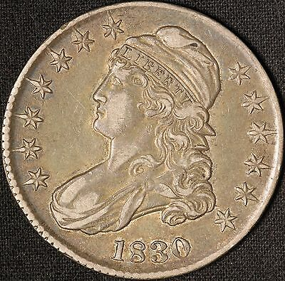 1830 50C Capped Bust Silver Half Dollar - Free Shipping USA