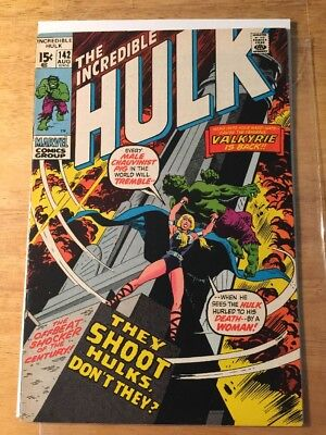 The Incredible Hulk #142 (Aug 1971, Marvel) Second Appearance Of Valkyrie