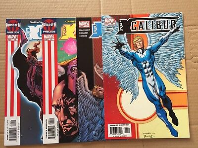 Marvel Comics Book Excalibur #11 - #14  House Of M Chris Claremont NM