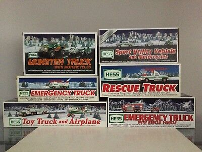 Collection Of 6 Various Hess Trucks In Original Boxes 1994-2007