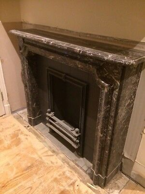 Victorian Marble Fire Surround and Cast Iron Insert
