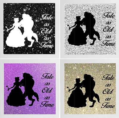 Beauty and the Beast ( tale as old as time vinyl decal )