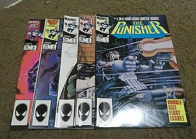 punisher 1-5 miniseries 1-6 unlimited series. all fine or better.
