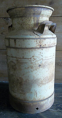 """VINTAGE MILK CAN 19""""H No Lid DAIRY CAN Fresh off the Farm Southern Charm CAN"""