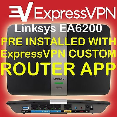 LINKSYS EA6200 PREINSTALLED With Expressvpn Router App Custom Vpn Firmware