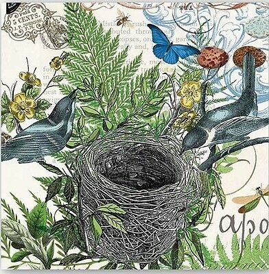 TWO (2) Birds Nest, Cocktail Napkins for Decoupage and Paper Crafts