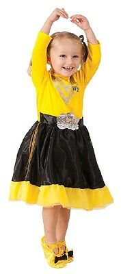 YELLOW EMMA WIGGLES Deluxe Dress Up Costume. Brand New. Size 1-3 or 3-5 yrs old