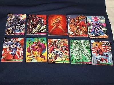 1995 Lot of Marvel Spiderman Character Trading Cards - Flair Annual