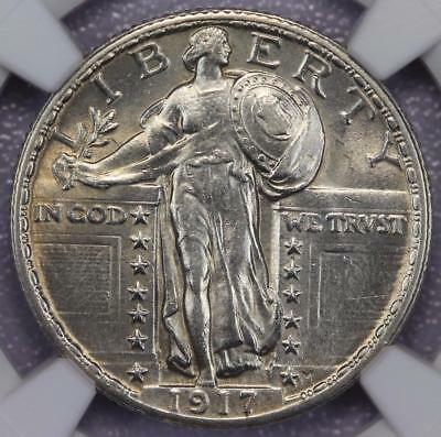 1917 Type 2 Standing Liberty Silver Quarter NGC MS62FH - Full Head - 586A12