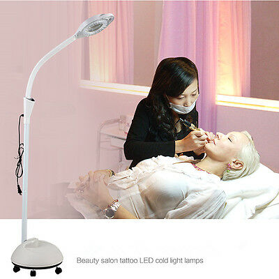 Adjustable Diopter Rolling LED Floor lamp Stand Magnifier Lamp Magnifying Facial