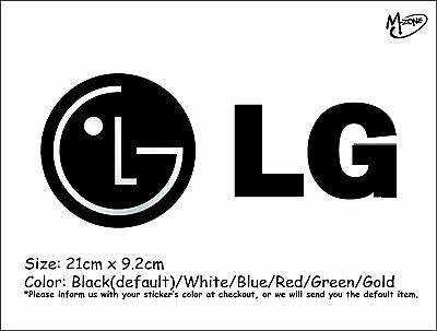 LG LOGO Wall Stickers 21cm Reflective Decal IT Business Signs Best Gift