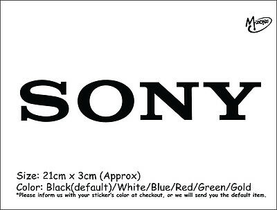 SONY LOGO Wall Stickers 21cm Reflective Decal IT Business Signs Best Gift