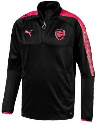 Arsenal ¼ Zip Training Top 2017/18 (Black)