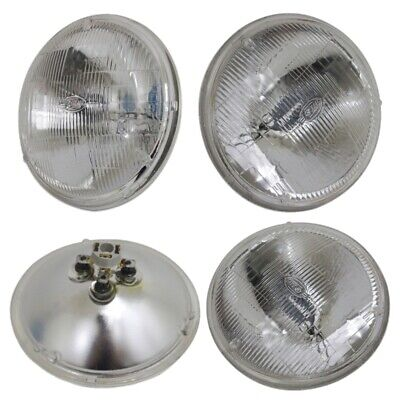 "5-3/4"" 5.75 Sealed Beam Glass Hi/Low Headlight Headlamp Bulbs Set 4"