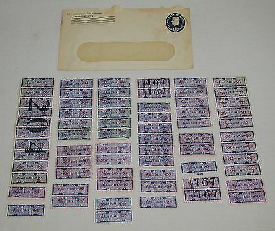 Lot of 60 Vintage Clark Super 100 Trading Stamps