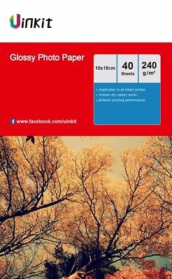 160Sheets 4x6 Photo Paper Inkjet Paper High Glossy 230 240Gsm 102x152mm Uinkit