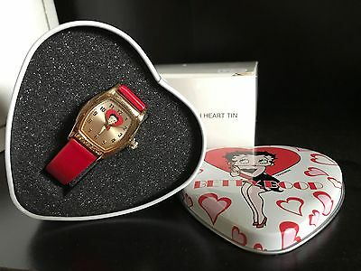 Betty Boop Watch In Heart Tin-Avon-New-Vintage