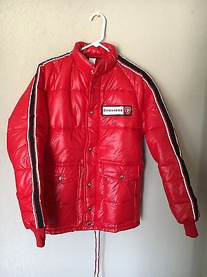 New Wo/tags Vintage 1970's Firestone Puffer Jacket By Swingster Adult Small Usa