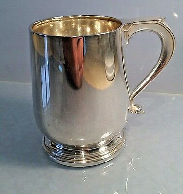 Gentlemans Solid silver tankard William Suckling 1940 great condition no dents