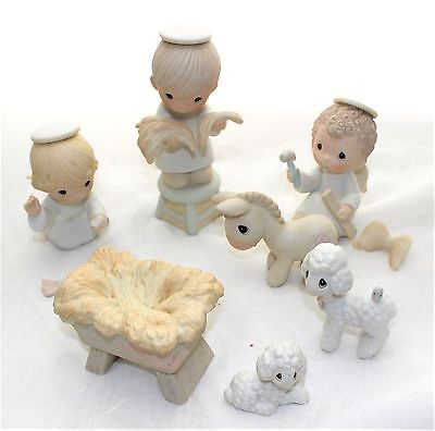 Precious Moments Prepare Ye The Way of The Lord 7 Piece Nativity Set E-0508