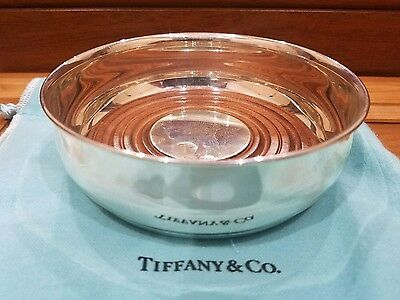 Tiffany and Co Sterling Silver Wine Coaster with Wood Insert