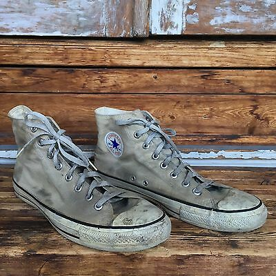 Vintage Converse Chuck Taylor Made In USA Size 11.5 Cream Grey 80s 90s