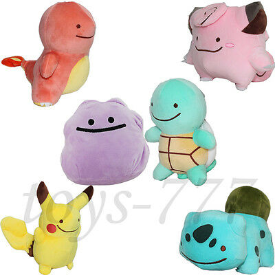Pokemon Clefairy Charmander Bulbasaur Squirtle Pikachu Ditto Toys Collectable