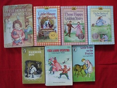 LAURA INGALLS WILDER x 7 Little House on the Prairie Collection Good Bulk Lot